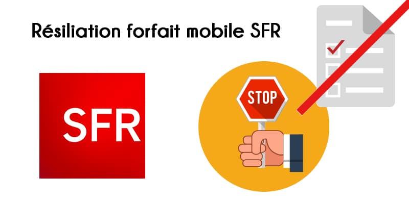 Résilier forfait mobile SFR