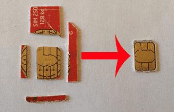 Mini sim micro sim nano sim la diff rence - Couper une micro sim en nano sim ...