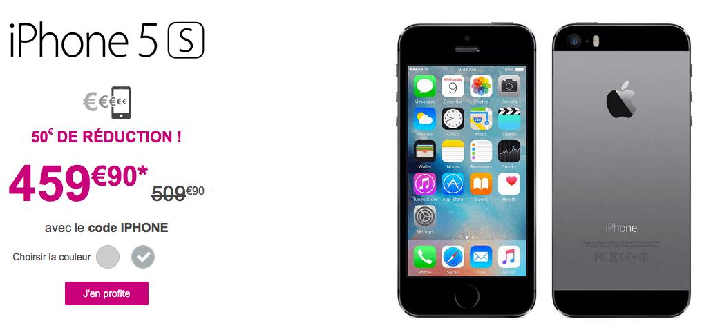 l 39 iphone 5s est moins cher avec bouygues t l com vendr 39 deals. Black Bedroom Furniture Sets. Home Design Ideas