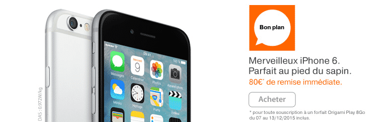 prix r duits pour l 39 iphone 6 et l 39 iphone 6 plus chez orange. Black Bedroom Furniture Sets. Home Design Ideas