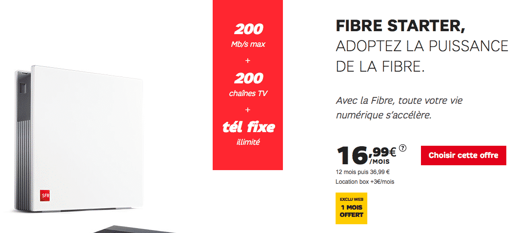 bon plan votre abonnement internet fibre partir de 16 99 chez sfr. Black Bedroom Furniture Sets. Home Design Ideas