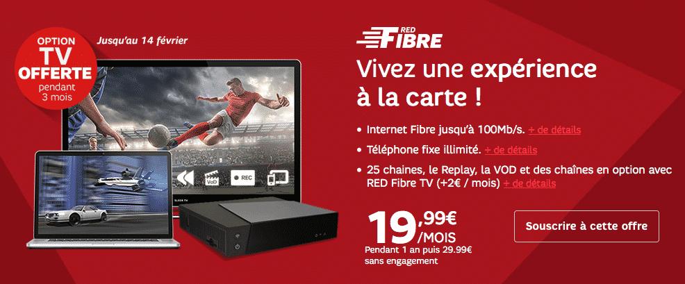 red offre l 39 option tv sur sa box fibre et prolonge les prix barr s. Black Bedroom Furniture Sets. Home Design Ideas