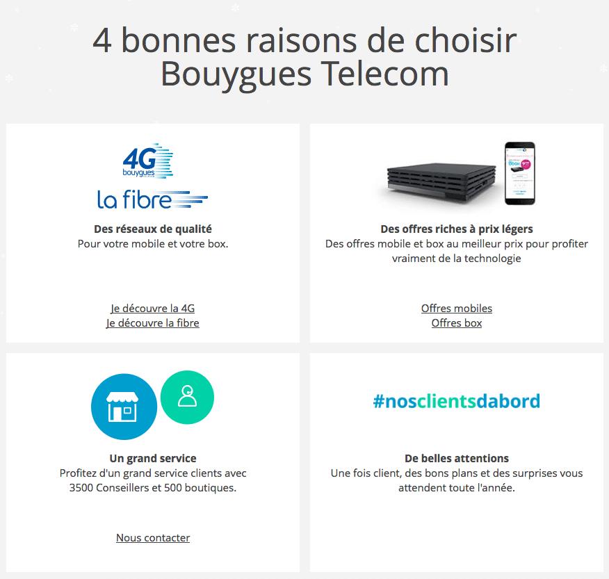 Les raisons de choisir Bouygues Télécom