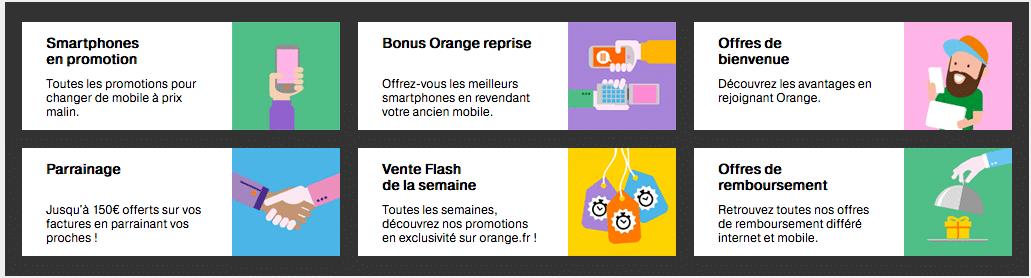 Promotions d'Orange
