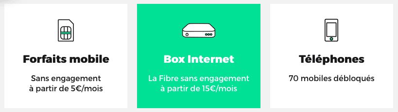 Forfaits, Téléphones et Internet RED by SFR