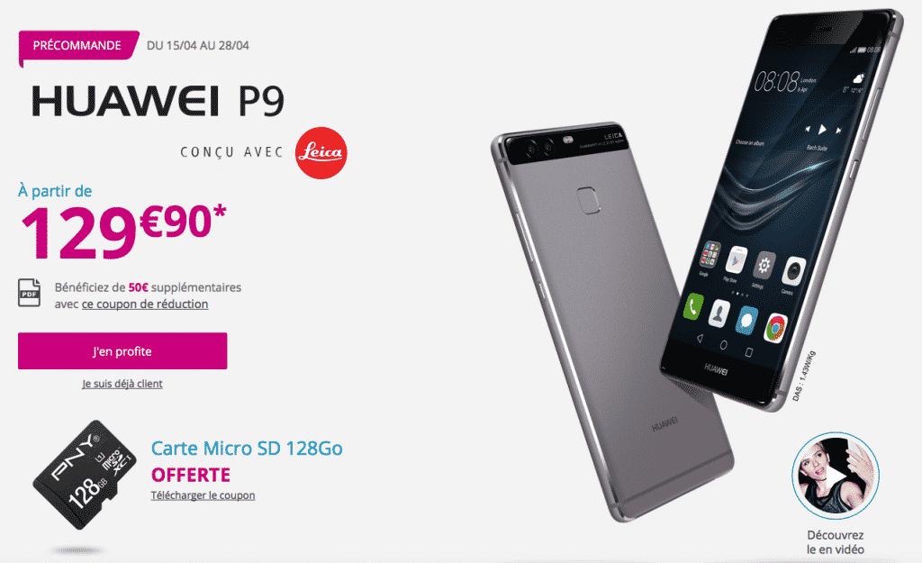 Huawei p9 pr commandes chez orange sfr et bouygues t l com - Acheter telephone portable payer en plusieur fois ...
