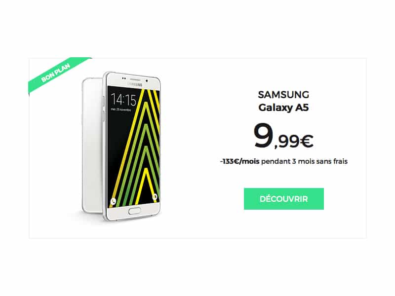 Bon plan red sfr le samsung galaxy a5 9 99 payable en 3 fois - Site payable en 3 fois ...