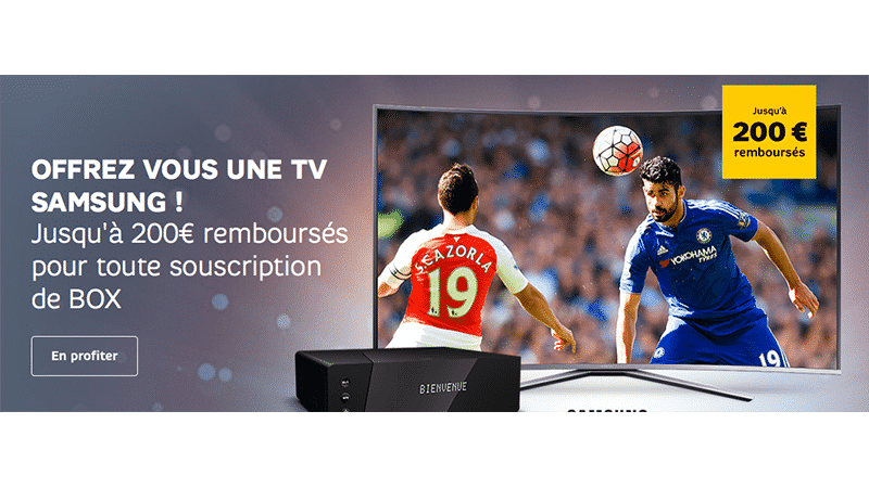 exclu sfr 200 rembours s sur votre tv samsung avec une box sfr. Black Bedroom Furniture Sets. Home Design Ideas
