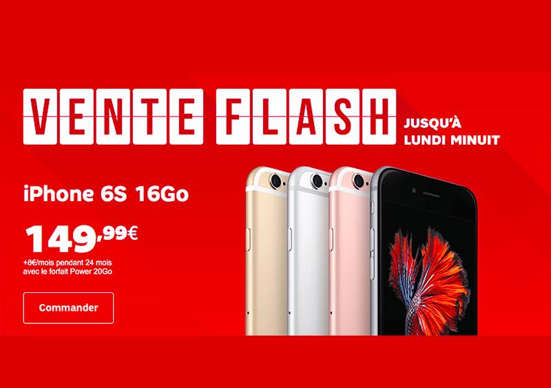 Vente flash sfr galaxy s7 iphone 6s et iphone 5s en solde - Vente flash telephone ...