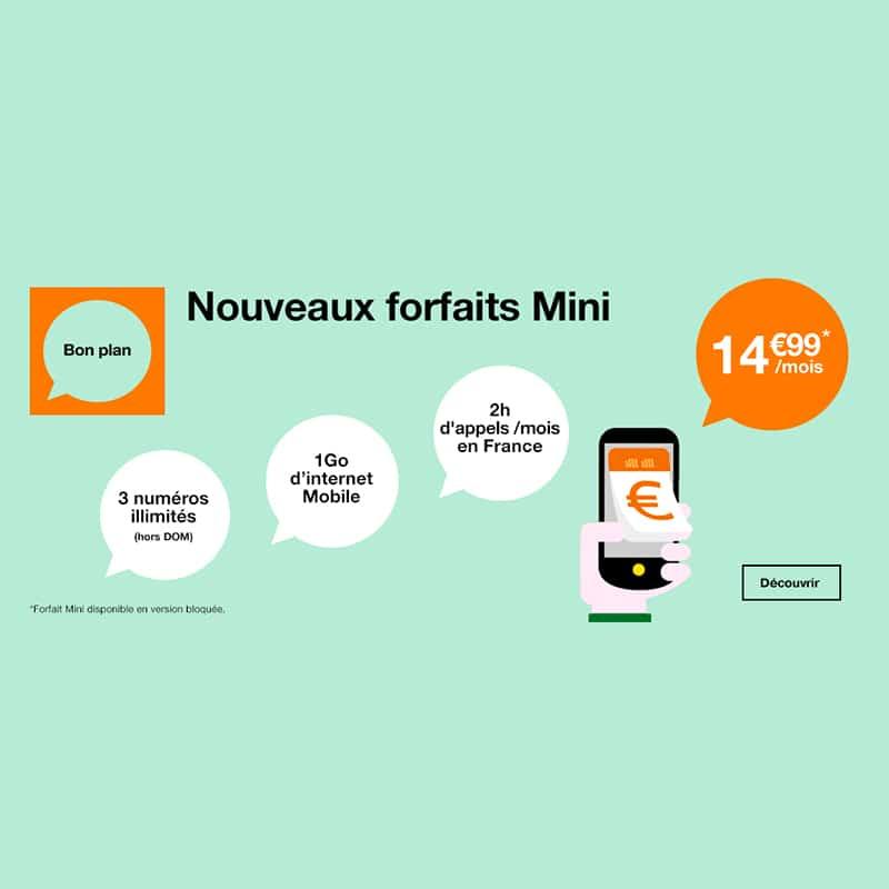orange lance de nouveaux forfaits mini pour remplacer les offres m6 mobile. Black Bedroom Furniture Sets. Home Design Ideas