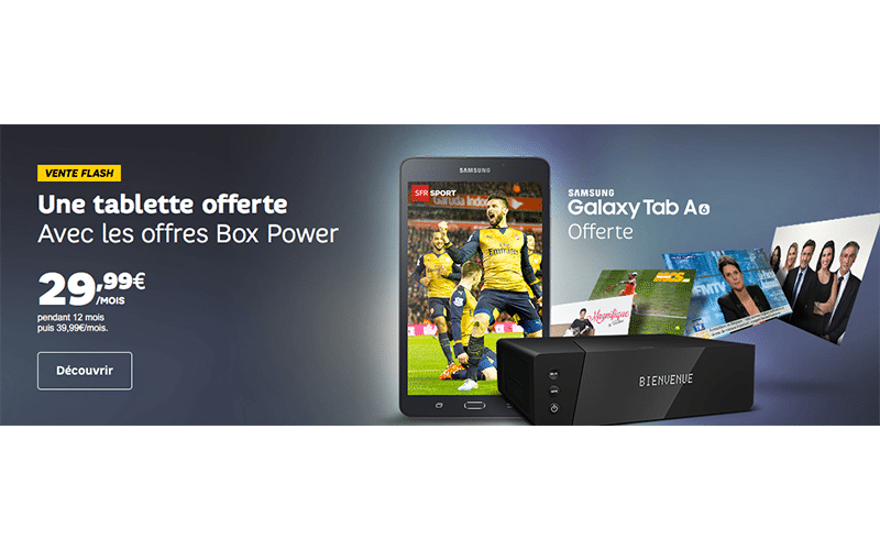 sfr tablette samsung galaxy tab a6 offerte avec les offres internet power. Black Bedroom Furniture Sets. Home Design Ideas