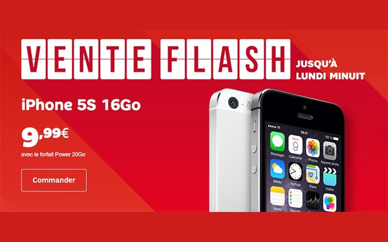 Vente flash l 39 iphone 5s et le sony xperia x en promo chez sfr - Discount vente flash ...