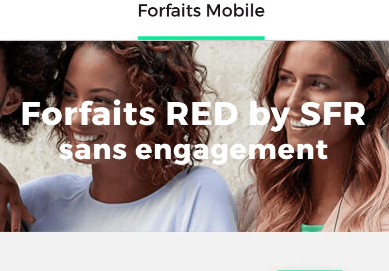 2 offres promos exceptionnelles red by sfr sur les forfaits mobiles. Black Bedroom Furniture Sets. Home Design Ideas