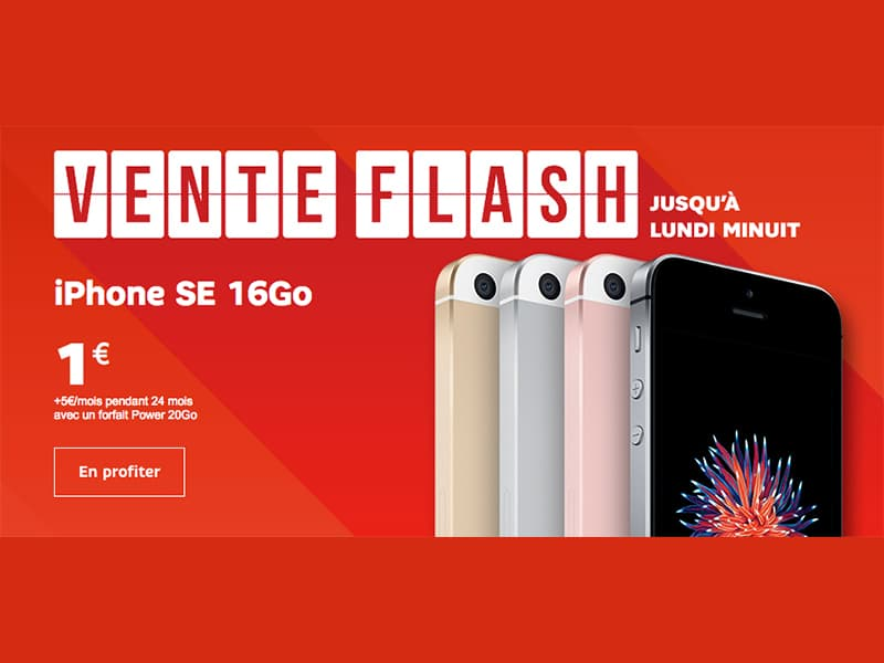 Ventes flash sfr l 39 iphone se et le huawei nova affich 1 euro jusqu - Vente flash internet ...