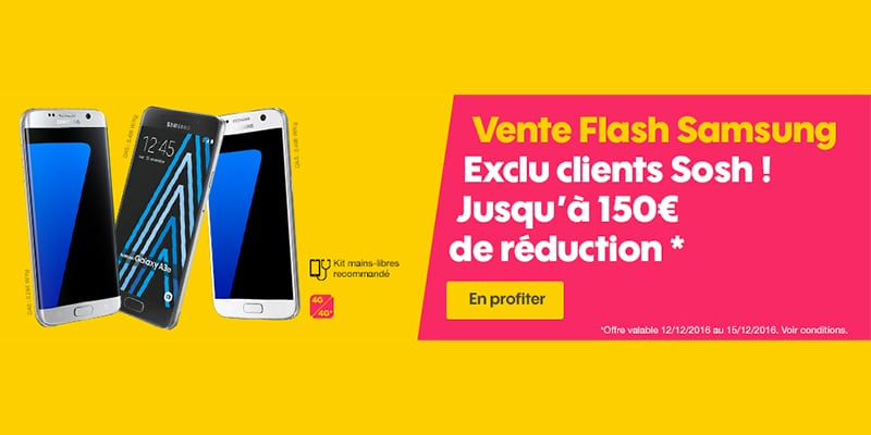 Vente flash sosh r duction de 150 euros sur les samsung galaxy s7 et s7 edge - Discount vente flash ...