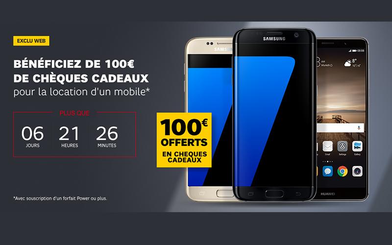 Louez votre smartphone chez sfr et profitez de 100 euros for Smartphone 100 euro 2017