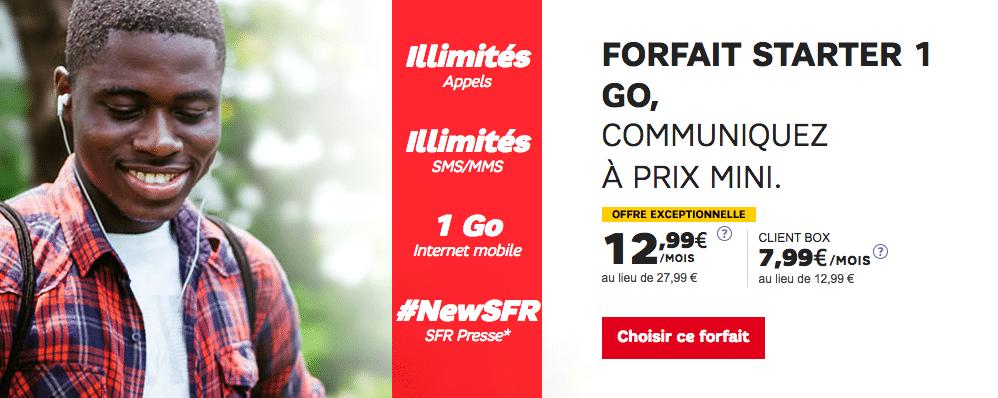 Forfait Starter SFR 1 Go