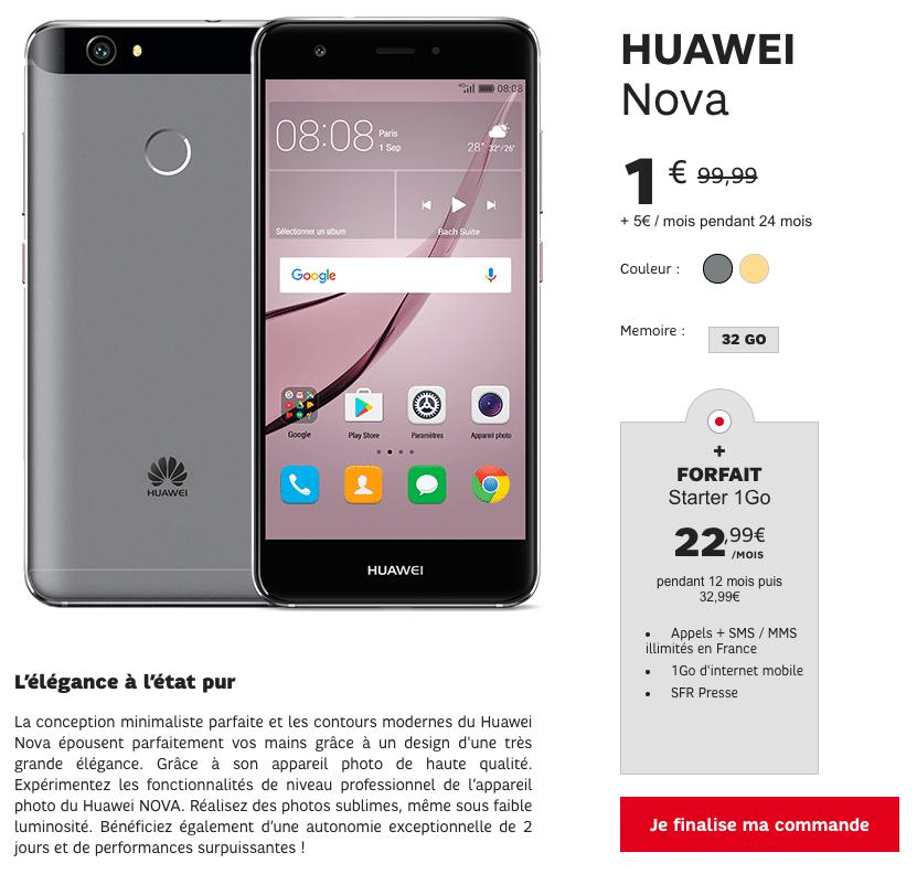 Vente Flash SFR : Huawei Nova