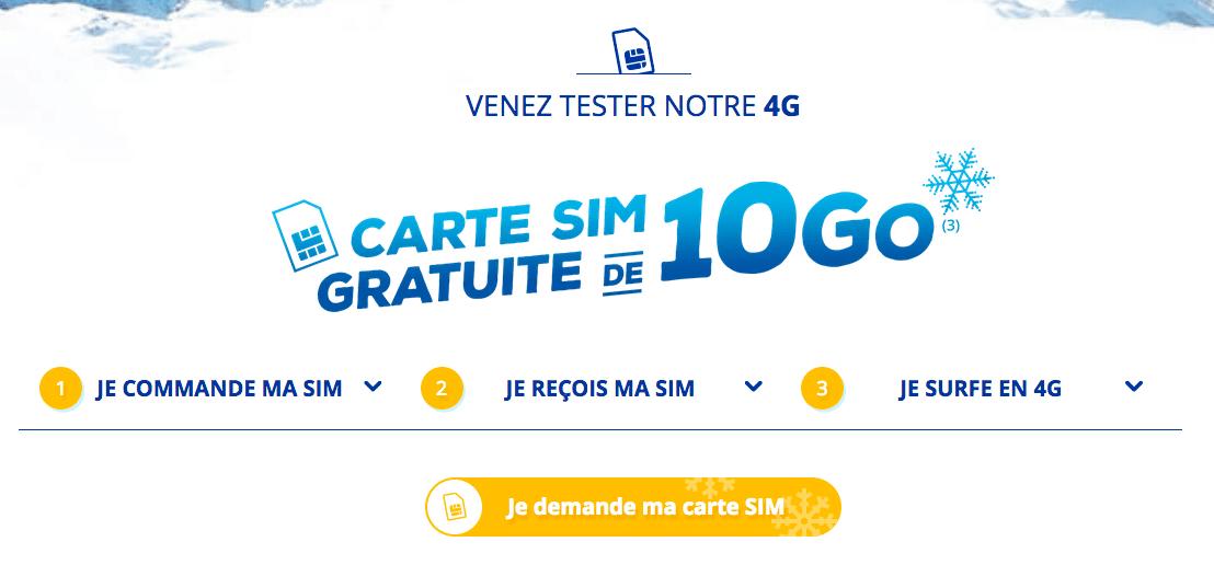 Bouygues Telecom Une Carte Sim Pour Tester La 4g Pour 0 Avec 10 Go