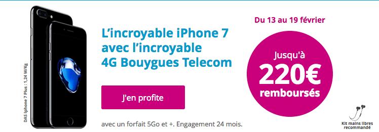 iPhone 7 Bouygues Télécom Promotion