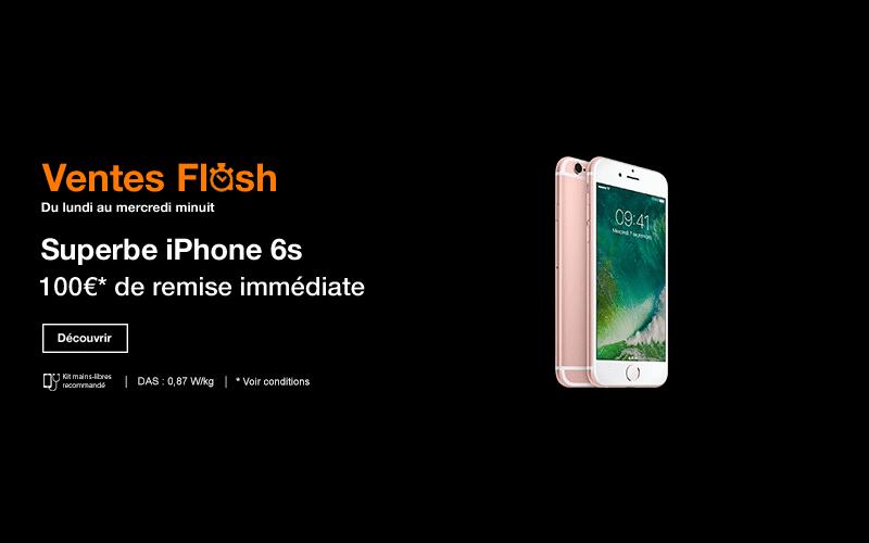 ventes flash orange iphone 6s et 6s plus 128 go 100. Black Bedroom Furniture Sets. Home Design Ideas