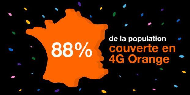 Couverture 4G Orange 88% population