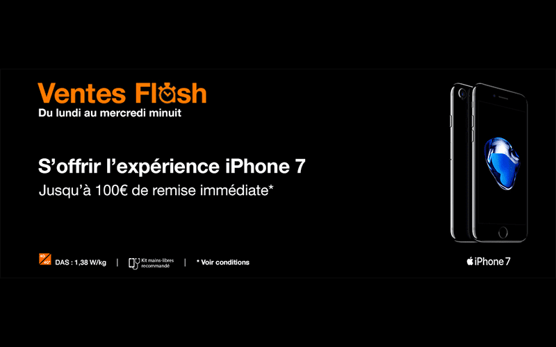 Vente flash orange jusqu 39 100 de remise imm diate sur les iphone 7 et - Vente flash internet ...