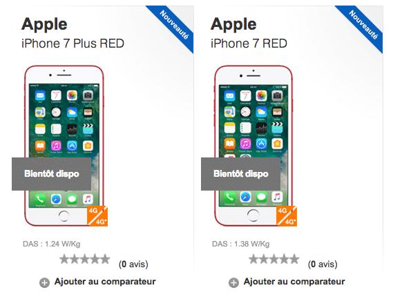 l'iPhone 7 RED