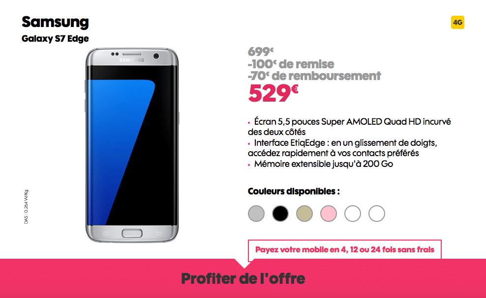 Vente Flash Galaxy S7 Edge Sosh