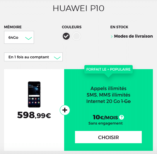 Huawei P10 RED by SFR