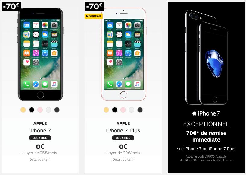 iphone 7 sfr le code promo app70 permet d 39 conomiser jusqu 39 170 euros l 39 achat d 39 un iphone. Black Bedroom Furniture Sets. Home Design Ideas