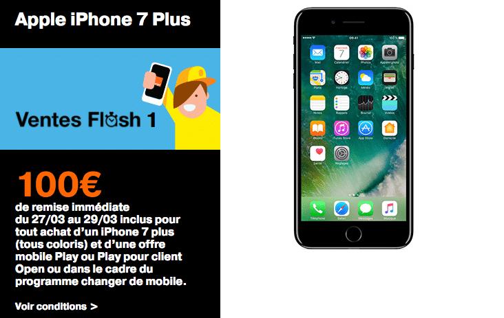 vente flash iPhone 7