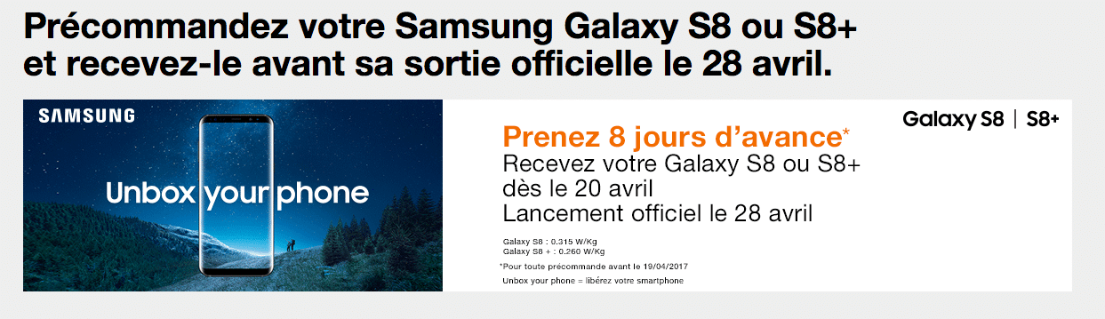 Orange dernier Galaxy