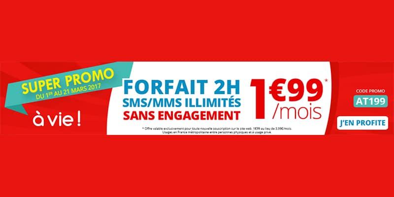 Forfait 2H Auchan Télécom