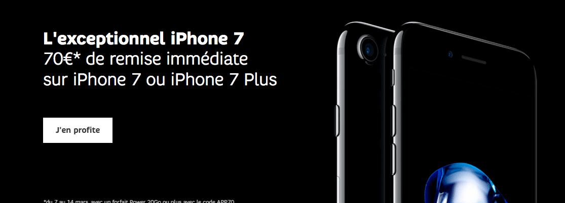 Code promo iPhone 7 SFR