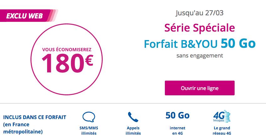 Forfait 50 Go de B&YOU