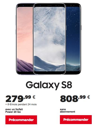 Galaxy S8 de SFR