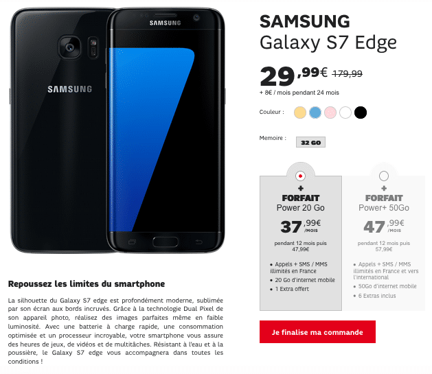 Samsung Galaxy S7 Edge SFR