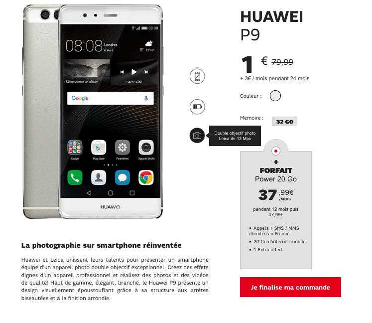 Huawei P9 SFR