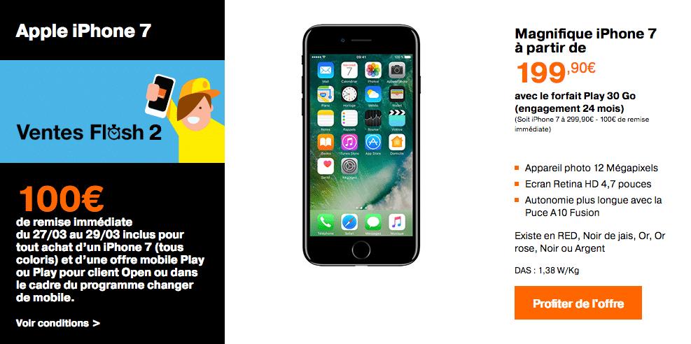 Orange iphone 7 et iphone 7 plus avec 100 de r duction en vente flash - Vente flash telephone ...