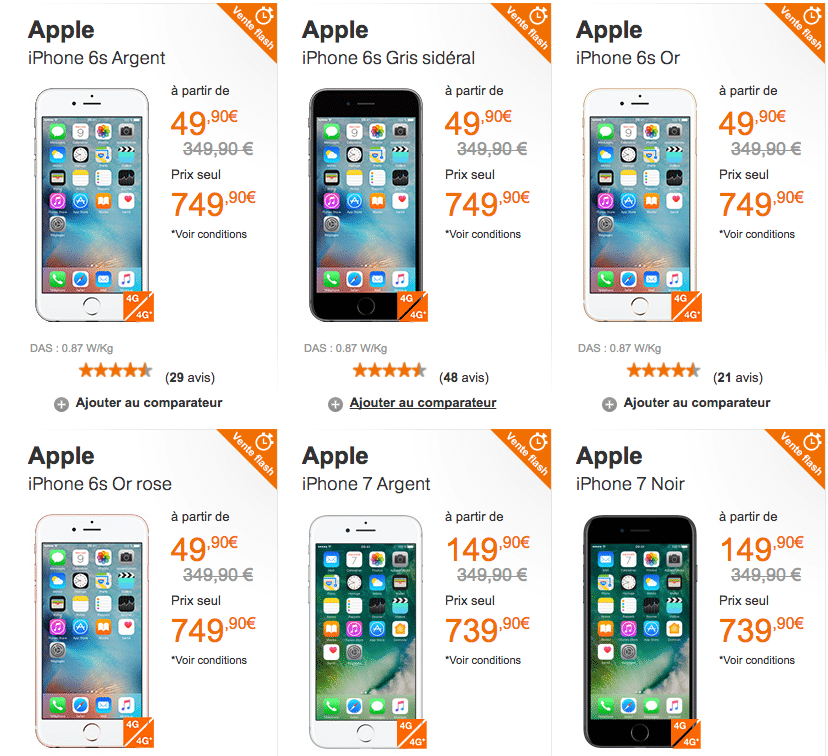 fin de la vente flash Orange