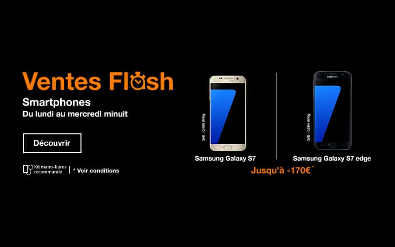 Orange 170 de r duction sur les galaxy s7 et s7 edge en vente flash - Vente flash internet ...