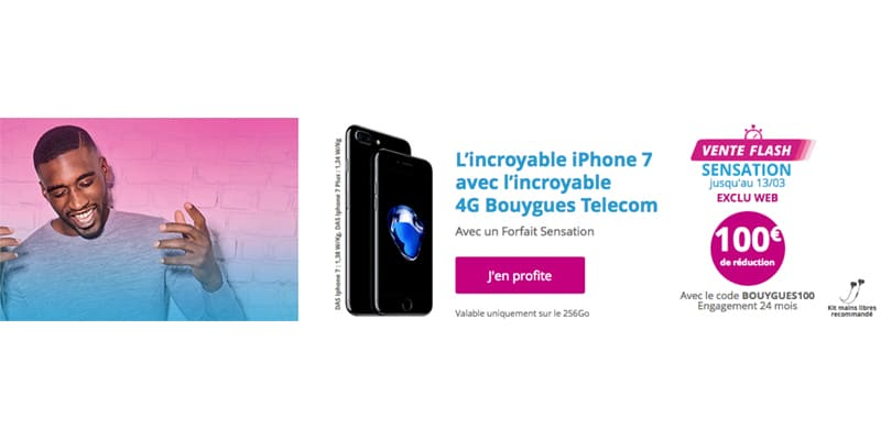 Bouygues t l com l 39 iphone 7 de 256 go avec 100 de r duction - Vente flash internet ...