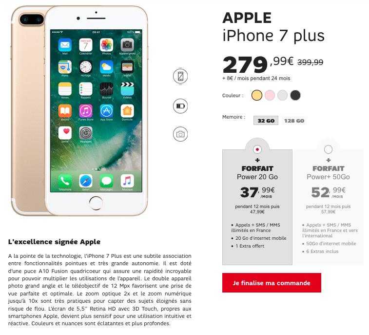 iPhone 7 Plus SFR Promotion