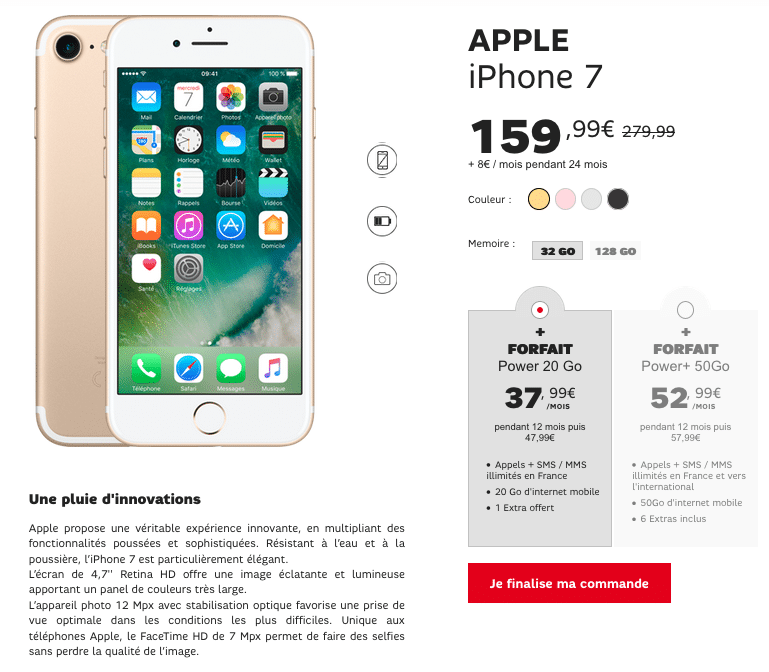 iPhone 7 SFR Promotion