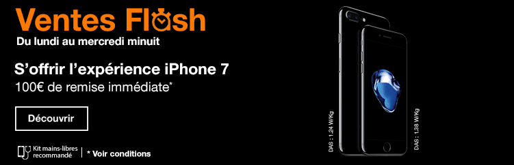 Vente flash iPhone 7 Orange