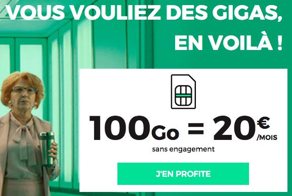 100 Go à 20€ chez RED