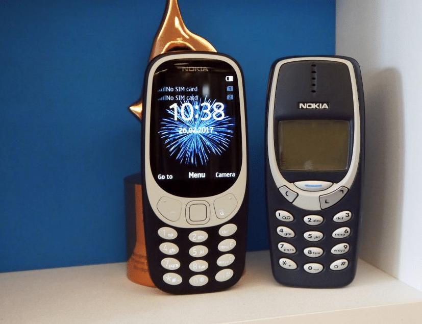 Nouveau et ancien Nokia 3310