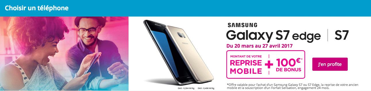 Galaxy S7 Edge Bouygues promo