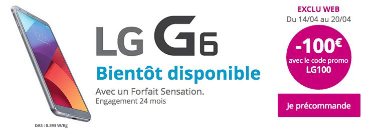 Précommande Bouygues Télécom LG G6